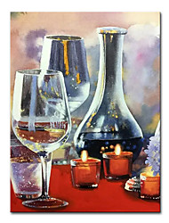 cheap -Oil Painting Handmade Hand Painted Wall Art Mintura Modern Abstract Wine Glass Picture Home Decoration Decor Rolled Canvas No Frame Unstretched