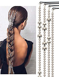 cheap -popular hair accessories silver-plated beads hair chain tassel hair accessories