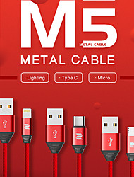 cheap -USB C Cable High Speed Quick Charge 2 A 1.0m(3Ft) PVC(PolyVinyl Chloride) Nylon Aluminium Alloy For Samsung Xiaomi Huawei Phone Accessory