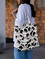 cheap -Canvas Shoulder storage bag back to school Halloween goody bag cute cats portable grocery shopping cloth book tote