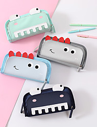 cheap -Pencil  pen  Case box back to school gift Cute Cartoon Large Capacity Simple Stationery Bag Holder zippe 21.5*10*6.5 cm