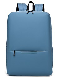 cheap -Commuter Backpacks Canvas Solid Color for Men for Women for Business Office Waterpoof Shock Proof