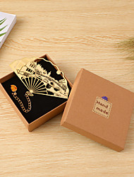 cheap -Inspirational Creative Colored golden vintage fan Bookmarks for Women Page Markers for Students Teachers Reading