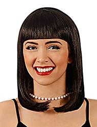preiswerte -Cleopatra Perücke Känguru Damen Peggy Sue Perücke - Cosplay Perücke Kostüme für Frauen - Kostüm Perücken mit Pony - Kinder Cleopatra Perücke - Cleopatra Bob Style Perücke - Schwarze Cleopatra Perücke