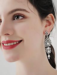 cheap -Women's Stud Earrings Drop Earrings Hoop Earrings Retro Drop Stylish Artistic Simple Vintage Sweet Imitation Diamond Earrings Jewelry Silver For Party Wedding Holiday Engagement Festival 2pcs