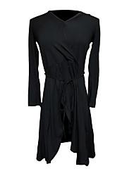 cheap -Latin Dance Dress Solid Women's Training Performance Short Sleeve Long Sleeve Natural Cotton