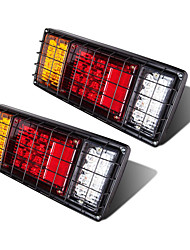 cheap -OTOLAMPARA Tri-colors 120W LED Trailer Tail Lights Kit Waterproof Turn Signal Brake Reverse Running Lights LED Tail Light for Truck Boat Trailer UTV UTE RV Camper Pickup 2pcs