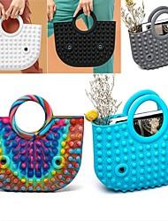 cheap -New 32cm Product Rodent Pioneer Handbag Unzip Bubble Music Fidget Toy Decompression Ladies Bags Fidget Toys