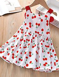 cheap -Kid's Little Girls' Dress Cartoon Cherry Q00168 cherry wings Short Sleeve Dresses