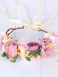 cheap -Wreath Headdress Handmade Simulation Flower Hair Band Fashion Bride Beach Photo Photo Hair Accessories