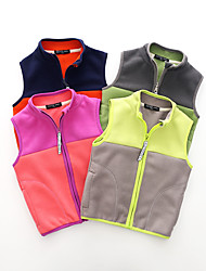 cheap -Kids Unisex Jacket & Coat Sleeveless fluorescent green Pink purple Matcha green Multi Color Solid Color School Daily Wear Casual Daily 2-8 Years
