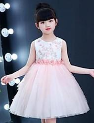 cheap -girl's dresses 2021 wedding girls flower dress o-neck hand-made beaded vestidos formal eleghant costume kids clothing rkf184092