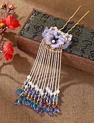 cheap -Antique Headdress Super Immortal Hanfu Hairpin Long Retro Butterfly Fairy Airflow Fringe Clip Hairpin Accessories