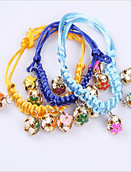 cheap -Dog Cat Pets Collar Adjustable Polyester Yellow Red Blue 1pc
