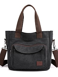 cheap -Women's Bags Canvas Top Handle Bag Zipper Daily Outdoor 2021 Tote Handbags Blue Purple Gray Black
