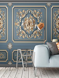 cheap -Mural Wallpaper Wall Sticker Covering Print Custom Peel and Stick Removable Self Adhesive Simple Blue European Style PVC / Vinyl Home Decor