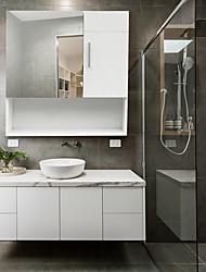 cheap -FCH White MDF Spray Paint One Mirror Door One Wooden Door Bathroom Sink Cabinet