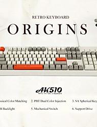 cheap -AJAZZ Ak510 USB Wired Mechanical Keyboard Cherry MX Switches Gaming Mechanical 104 pcs Keys