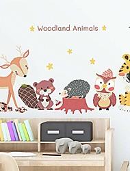cheap -shine shuna wall stickers self adhesive,eco-friendly animal pattern cartoon diy wall stickers,animal wall decals for kids nursery bedroom living room