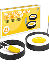 cheap -Fried Egg Rings Mold Pancakes Set Anti-scalding Handle Round Omelette Mold Mould Frying Egg Rings Shaper Cooker Nonstick Omelet Egg Cooking Tools Kitchen