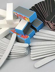 cheap -40pcs Double-sided Nail File Blocks Colorful Sponge Nail Polish Buffing Sanding Buffer Strips Polishing Pedicure Manicure Tools