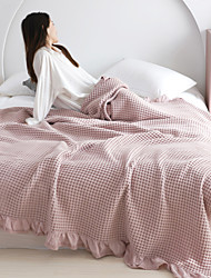 cheap -Pure Cotton Waffle Lace Towel Blanket Cover Blanket Summer Cool Air Conditioning Is Wholesale A Generation Of Hair 150*200cm