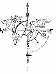 cheap -4258cm wall decal world map navigation compass wall sticker nautical compass decorative black world map wall stickers living room decoration