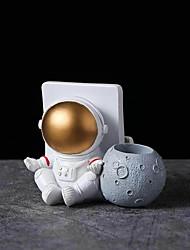 cheap -Modern Minimalist Resin Astronaut Pen Holder Office Model Room Study Practical Decorations Desktop Ornaments