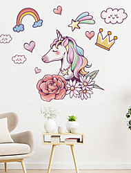 cheap -Animals Cartoon Wall Stickers Bedroom Living Room Removable Pre-pasted PVC Home Decoration Wall Decal 1pc