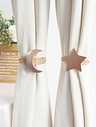 cheap -Tiebacks Curtain Accessories Window Treatments 1 Pair Star and Moon Luxury Style  Metal Spring Strap