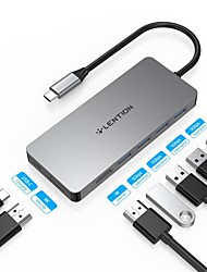 cheap -LENTION High Speed Support Power Delivery Function C45H USB 3.0 USB C to USB 3.0 HDMI PD 3.0 USB Hub 7 Ports For Windows, PC, Laptop