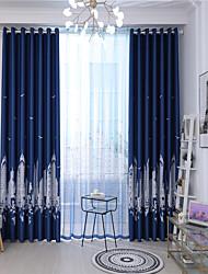 cheap -Window Drapes Curtain Window Treatments 2 Panels Room Darkening City for Living Room Bedroom Patio Sliding Door