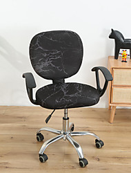 cheap -Computer Office Chair Cover Stretch Rotating Gaming Seat Slipcover Elastic Black Plain Solid Color Soft Durable Washable