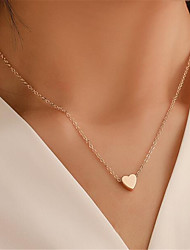 cheap -Women's Pendant Necklace Charm Necklace Classic Leaf Heart Fashion Chrome Gold 45 cm Necklace Jewelry 1pc For Christmas Party Evening Street Gift Birthday Party