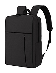 cheap -16 Inch Laptop Commuter Backpacks Plastics / Canvas Solid Color for Men for Women for Business Office Shock Proof