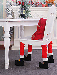 cheap -Christmas Chair Foot Cover Stool Table Foot Cover Restaurant Bar Decoration Supplies Christmas Decoration Supplies