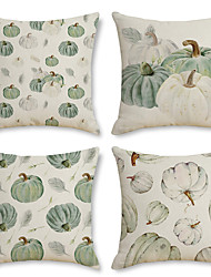 cheap -Fall Harvest Double Side Cushion Cover 4PC Soft Decorative Throw Pillow Cover Cushion Case Pillowcase for Bedroom Livingroom Superior Quality Machine Washable Indoor Cushion for Sofa Couch Bed Chair