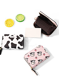 cheap -Other Material Black & White / Blushing Pink / Candy Pink 1 PC Change Purses / Credit Card Holders 10.5*7.5*2.5 cm