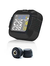 cheap -Motorcycle TPMS Tire Pressure Monitoring System 2 External Sensor Wireless LCD Display Moto Tyre Alarm Systems