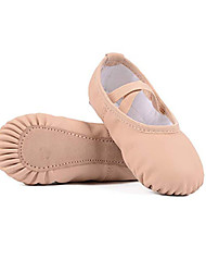 cheap -Girls' Ballet Shoes Ballroom Shoes Practice Trainning Dance Shoes Sneaker Flat Heel Round Toe Almond Elastic Band Slip-on Children's Leatherette Loafers Comfort Shoes Ballerina / Performance
