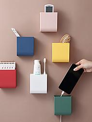 cheap -Wall-Mounted Pen Holder Storage Box Office Desktop Storage Box Mobile Phone Charging Storage Box 10*9*5cm