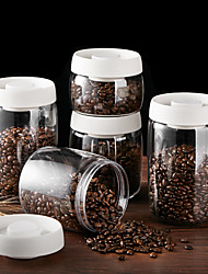 cheap -Vacuum Canister for Coffee and Food Storage Airtight Sealed Container Bottles Jars with Cover Plastic Vacuum Sealed Tank Storage Press and Exhaust Storage 400ml 800ml 1200ml