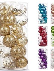 cheap -Christmas Decorations 6cm 24pcs PET Transparent Ball Christmas Ball Set Christmas Tree Pendant