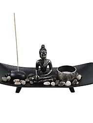 cheap -Candle Holder Resin Aromatherapy Table Candle Holders Buddha Statue Candlestick Ornament Sand Table for Home Decoration