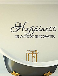 cheap -wall stickers murals happiness is a hot shower art sticker pvc wall decor for bathroom self-adhesive home decoration 55cmx19cm