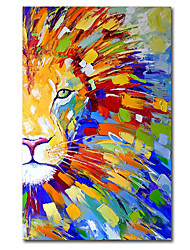 cheap -Oil Painting Handmade Hand Painted Wall Art abstract lionknife painting animal Home Decoration Decor Stretched Frame Ready to Hang