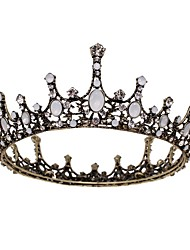 cheap -Crown Tiara Bridal Hair Accessories Wedding Accessories Retro Round Ring Number Full Crown Queen Atmosphere Birthday Tiara