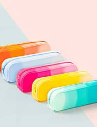 cheap -Pencil  pen  Case box back to school gift Colored Simple Stationery Bag Holder zippe 20.5*5*6.5 cm