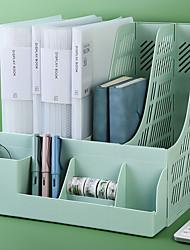 cheap -Plastic Back to school gift Multi-layer Large Capacity Desk Organizer Desktop Storage Box Pen Pencil Holder Green