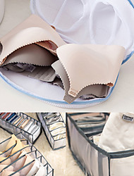 cheap -2PCS Machine-wash Special Home Use Polyester Anti-deformation Bra Mesh Bags Laundry Brassiere Bag Cleaning Underwear 3pcs underwear socks storage